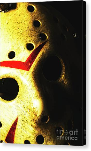 Hockey Players Canvas Print - Playing The Intimidator by Jorgo Photography - Wall Art Gallery