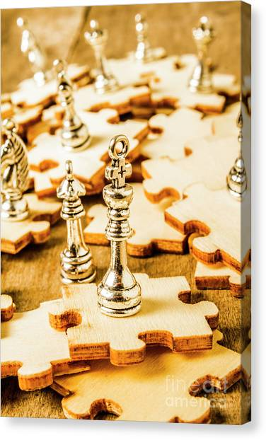 Chess King Canvas Print - Playing To Win by Jorgo Photography - Wall Art Gallery