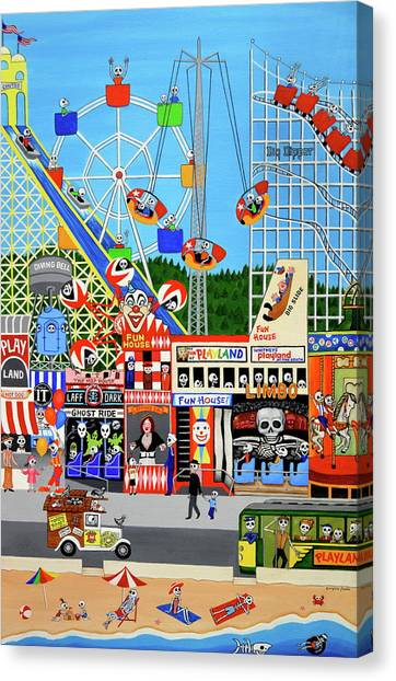 Playland In The Afterlife Canvas Print