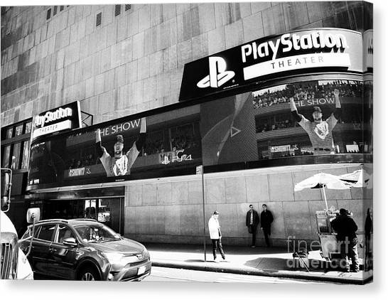 Playstation Canvas Print - playstation theater New York City USA by Joe Fox