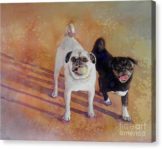 Pug Canvas Print - Playtime by Amy Kirkpatrick