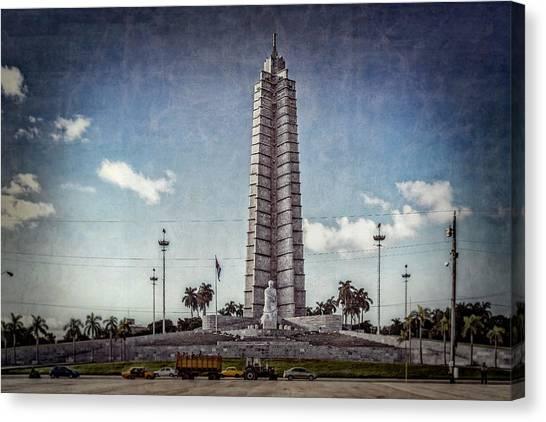 Canvas Print featuring the photograph Plaza De La Revolucion by Lou Novick