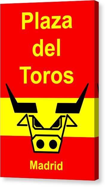 Plaza Del Toros Canvas Print by Asbjorn Lonvig