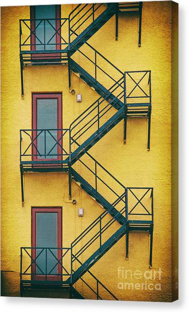 Plaza Fire Escape Canvas Print