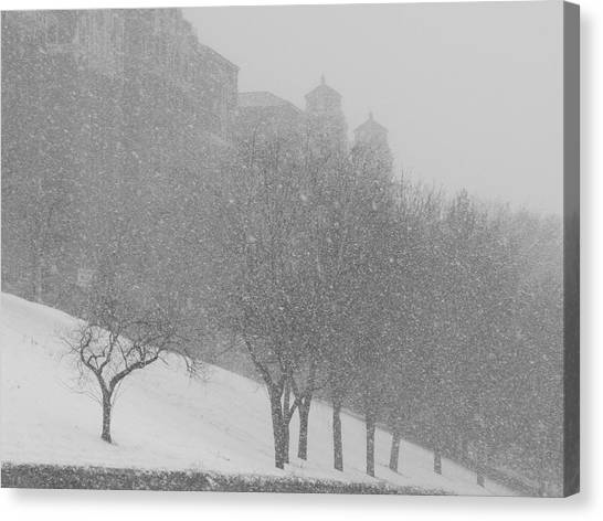 Plaza Impressionism With Kc Snow Canvas Print