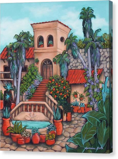 Plaza Jardin Canvas Print by Lorraine Klotz