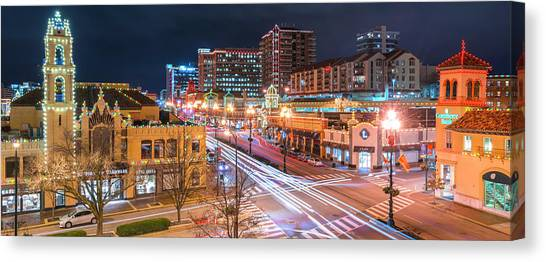 Plaza Lights  Canvas Print
