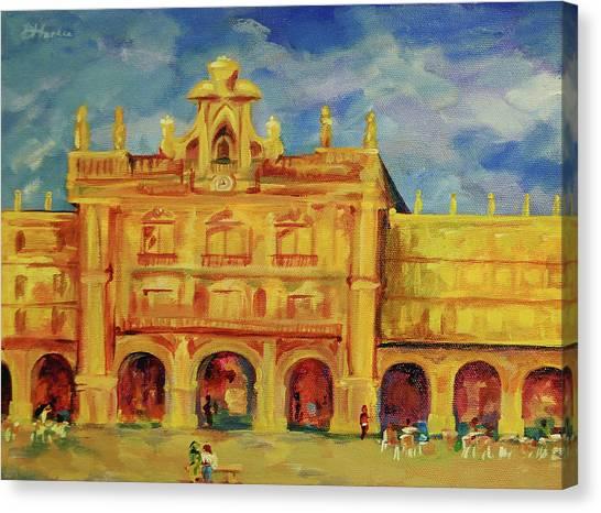 Plaza Mayor Salamanca Canvas Print by Danielle Hacker