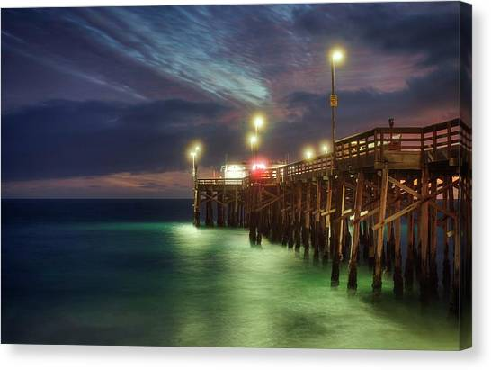 Canvas Print featuring the photograph Pleasant Balboa Night by Quality HDR Photography