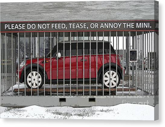 Please Do Not Feed Tease Or Annoy The Mini Canvas Print