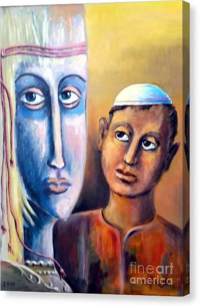 Please Canvas Print by Ushangi Kumelashvili