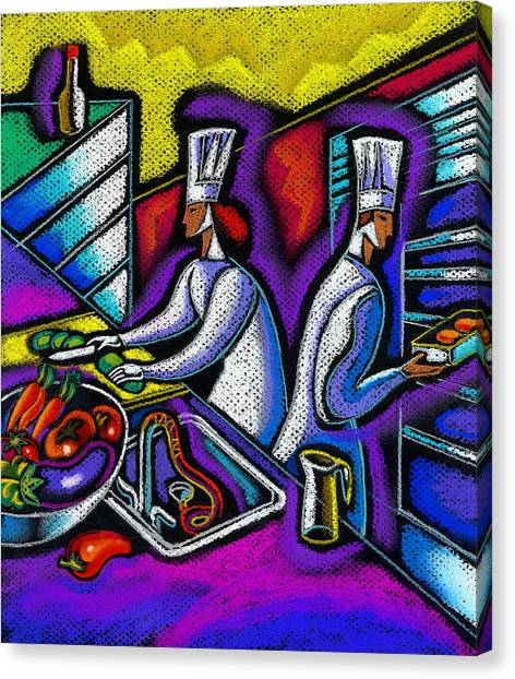 Careers Canvas Print -  Pleasure Of The Food Preparation by Leon Zernitsky