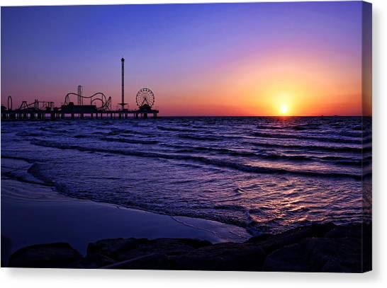 Pleasure Pier Sunrise Canvas Print