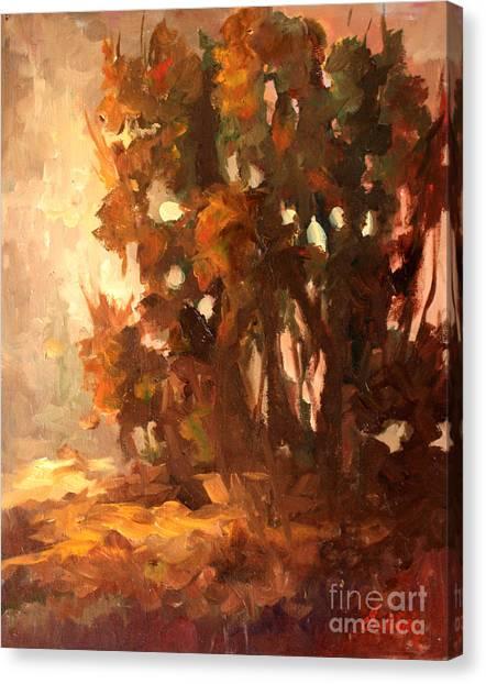 Plein Air At Hyw29 Canvas Print by Gail Salitui