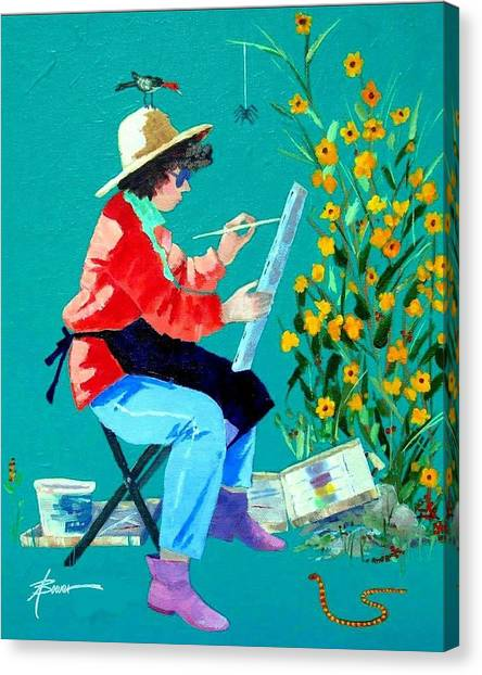 Plein Air Painter  Canvas Print