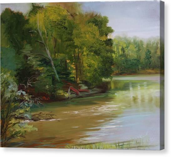 Plein Air Willow Creek Canvas Print by Jill Holt