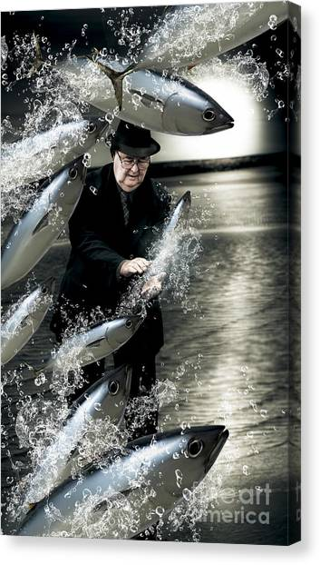 Angling Art Canvas Print - Plenty Of Fish In The Sea by Jorgo Photography - Wall Art Gallery