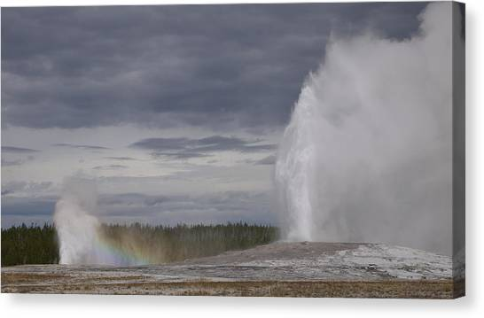 Yellowstone National Park Canvas Print - Plethora Of Geysers by Bethany Diaz