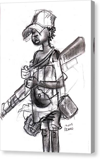 Plight Of A Child Soldier Canvas Print by Okwir Isaac
