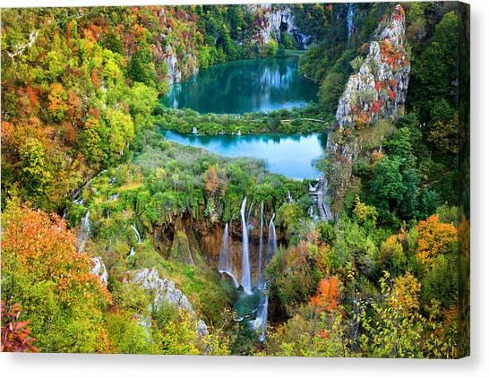 Plitvice Lakes In Croatia Canvas Print