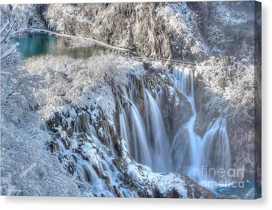 Plitvice Winter Canvas Print