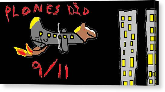 Canvas Print - Plones Did 9/11 Fan Requested by Santa Clause