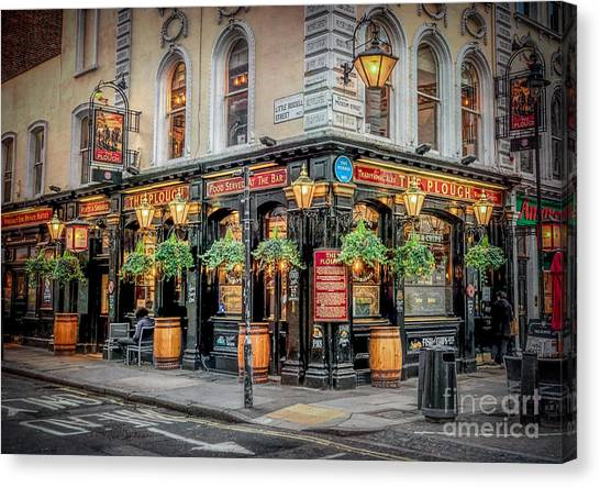 The British Museum Canvas Print - Plough Pub London by Adrian Evans