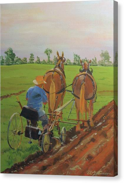 Plowing Match Canvas Print
