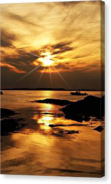 Plum Cove Beach Sunset E Canvas Print
