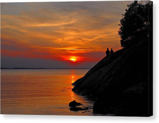 Plum Cove Sunset Canvas Print