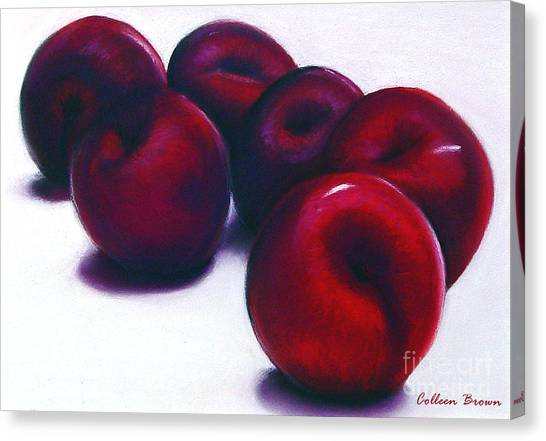 Plum Crazy Canvas Print by Colleen Brown