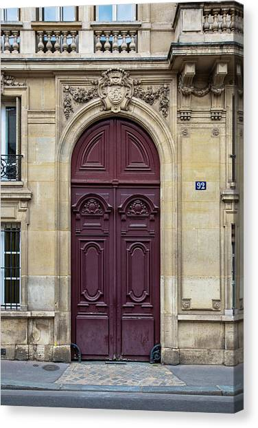 Plum Door - Paris, France Canvas Print