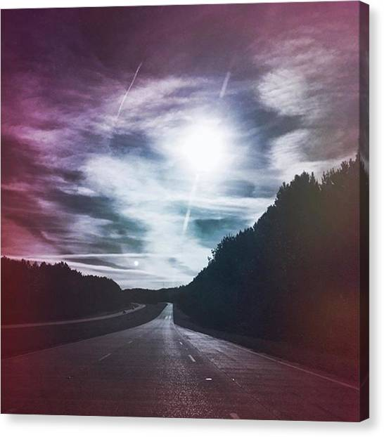 Travel Canvas Print - Plum Horizons #hwytravels by Joan McCool