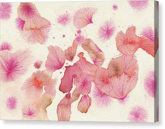 Plum Trees - #ss16dw017 Canvas Print by Satomi Sugimoto