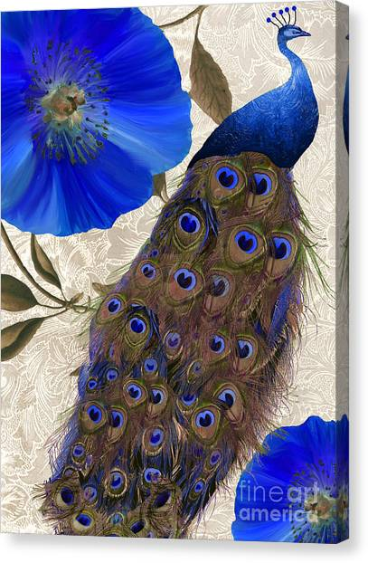 Peacocks Canvas Print - Plumage by Mindy Sommers