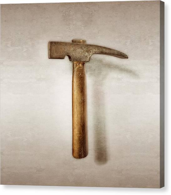 Tool Canvas Print - Plumb Masonry Hammer by YoPedro