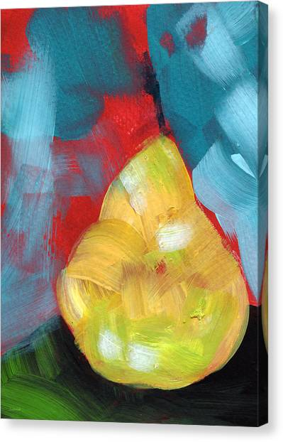 Pear Canvas Print - Plump Pear- Art By Linda Woods by Linda Woods