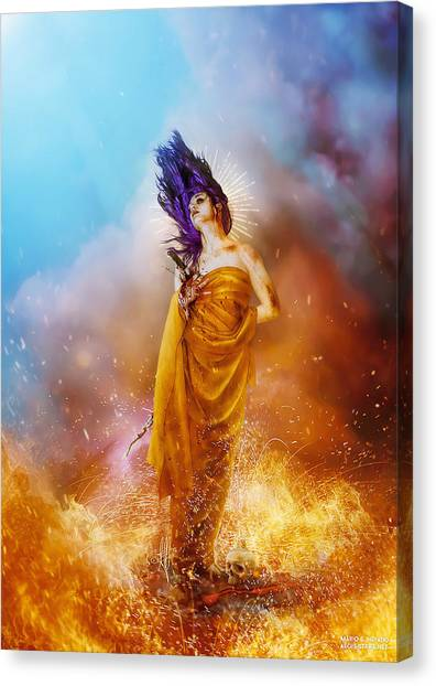 Fire Canvas Print - Plus Ultra by Mario Sanchez Nevado