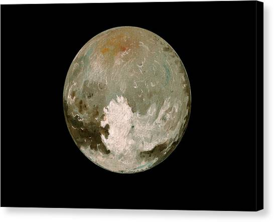 Pluto Canvas Print - Pluto Planet  by Juan  Bosco