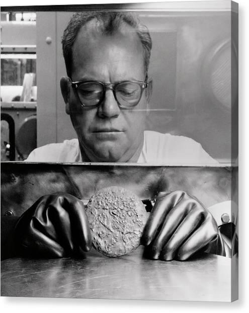 Half Life Canvas Print - Plutonium Button - Rocky Flats Production Facility by Daniel Hagerman