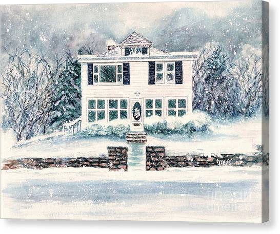 White House Canvas Print - Plym And Proper  by Janine Riley