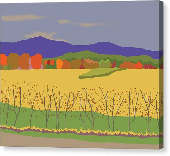 Plymouth Landscape Canvas Print by Marian Federspiel