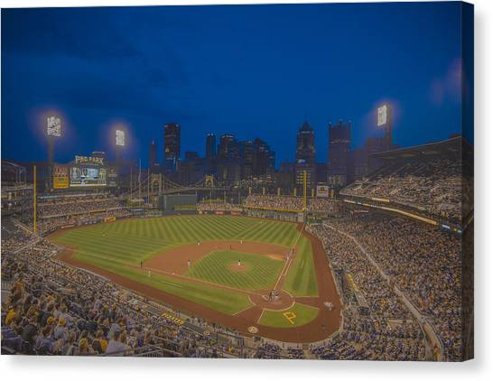 Pittsburgh Pirates Canvas Print - Pnc Park Pittsburgh Pirates C by David Haskett II