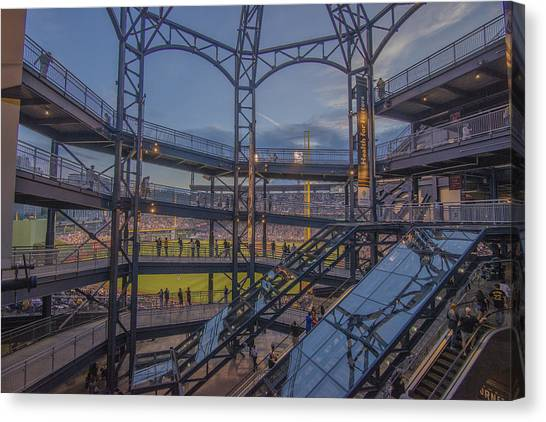 Pittsburgh Pirates Canvas Print - Pnc Park Pittsburgh Pirates D by David Haskett II