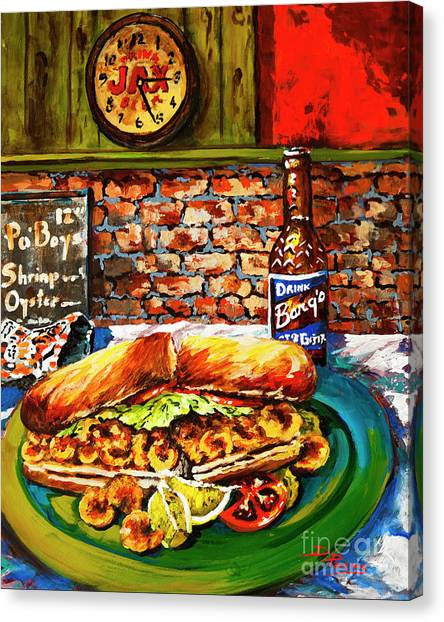 Po'boy Time Canvas Print