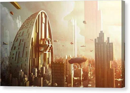 City Landscape Canvas Print - Pod City by Jamie Fox