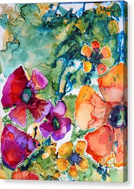 Poetry Of Petals Canvas Print