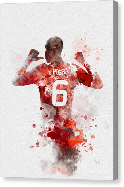 Paul Pogba Canvas Print - Pogba by Rebecca Jenkins