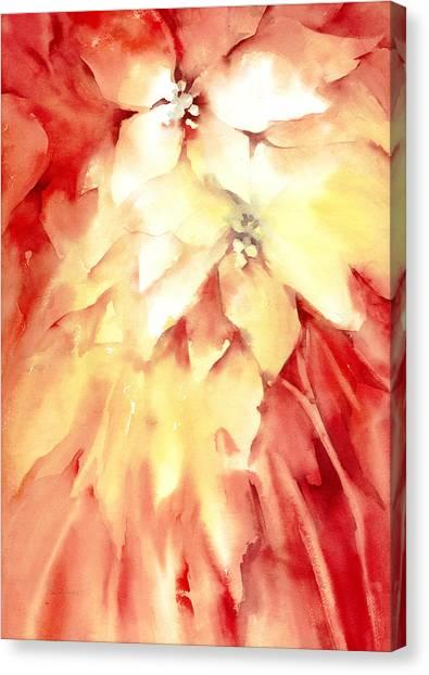 Poinsettias Canvas Print