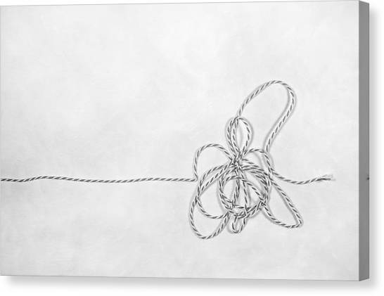 Knot Canvas Print - Point A To Point B by Scott Norris